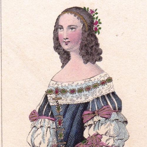 Portrait-XIXe-Ninon-de-Lenclos-l-039-Enclos-Lanclos-Femme-de-Lettres-Epistoliere