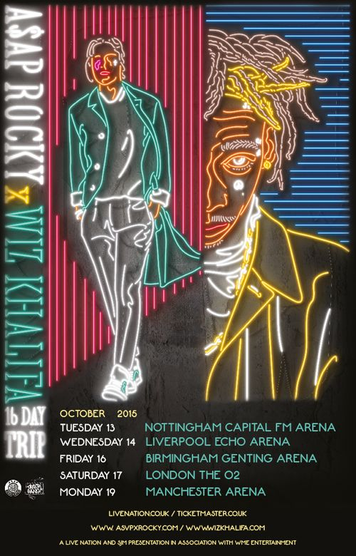 Wiz Khalifa And A$AP Rocky Are Heading On A UK Tour Together - Buy Tickets Now! - Capital FM