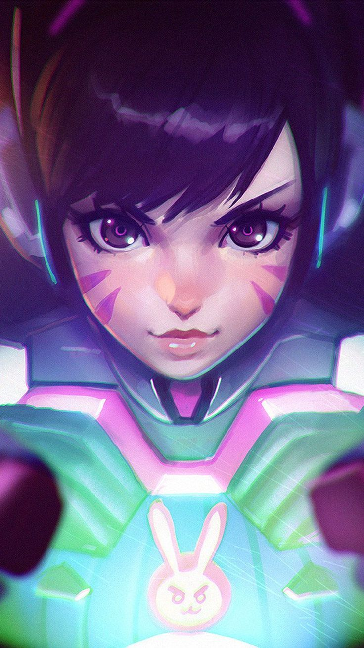 Dva Cute Game Overwatch Illustration Art Wallpaper Hd Iphone Click Here To Download Cute Overwatch Phone Wallpaper Overwatch Wallpapers Game Wallpaper Iphone