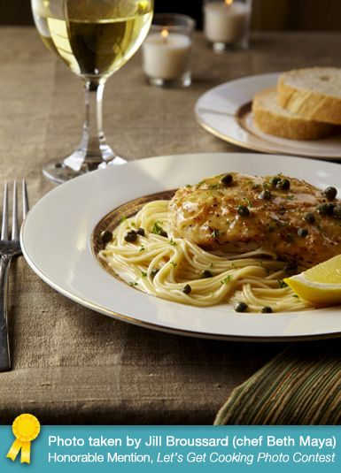 Giada De Laurentiis - Chicken Piccata.  A classic - and beautifully presented.