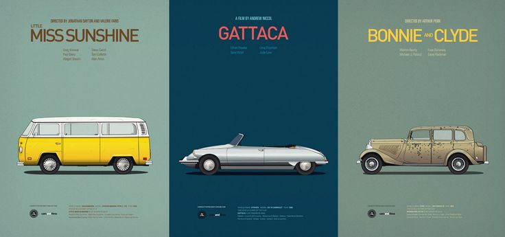Iconic Movie Car Posters - $28
