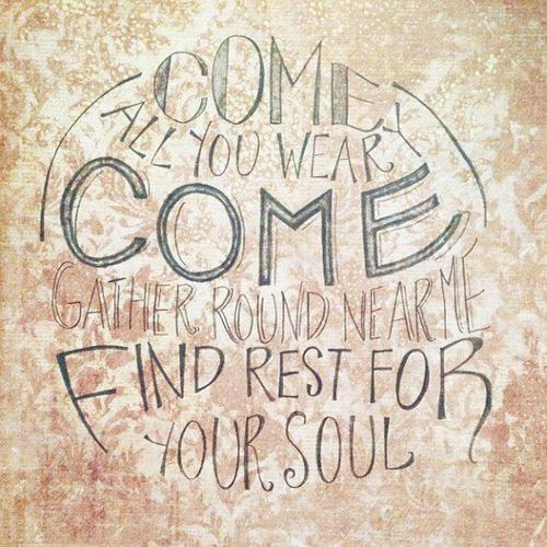 """Come All You Weary"" Pencilligraphy inspired by ""Come All You Weary"", a song by Thrice, with lyrics based off Matthew 11"