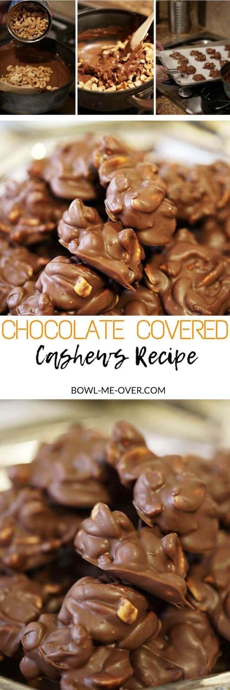 Homemade Chocolate Covered Cashews Recipe Easy Chocolate Salty Nuts With Melty Chocolate Chocolate Covered Cashews Recipe Cashew Recipes Delicious Desserts
