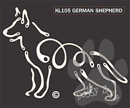 K Line German Shepherd Dog Car Window Decal Tattoo http://doggystylegifts.com/products/k-line-german-shepherd-dog-car-window-decal-tattoo
