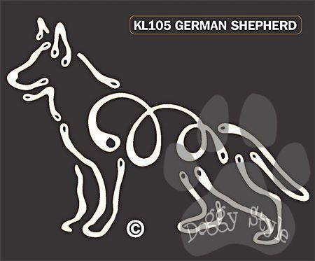 K Line German Shepherd Dog Car Window Decal Tattoo http://doggystylegifts.com/products/k-line-german-shepherd-dog-car-window-decal-tattoo