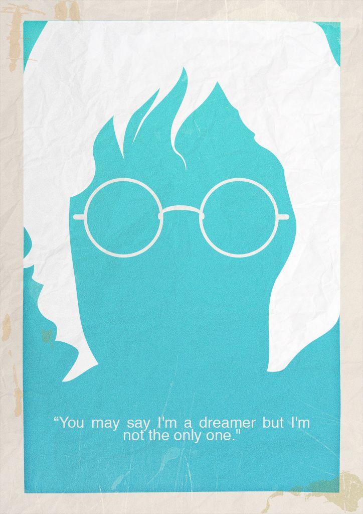 John Lennon Minimalist Poster