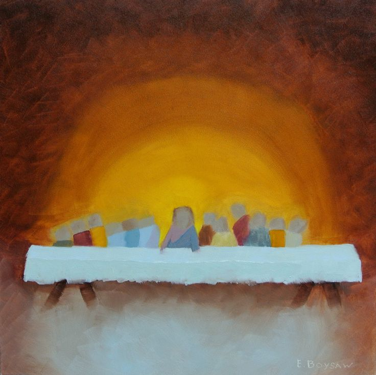 I absolutely love this      The Last Supper-painting by Elise Boysaw