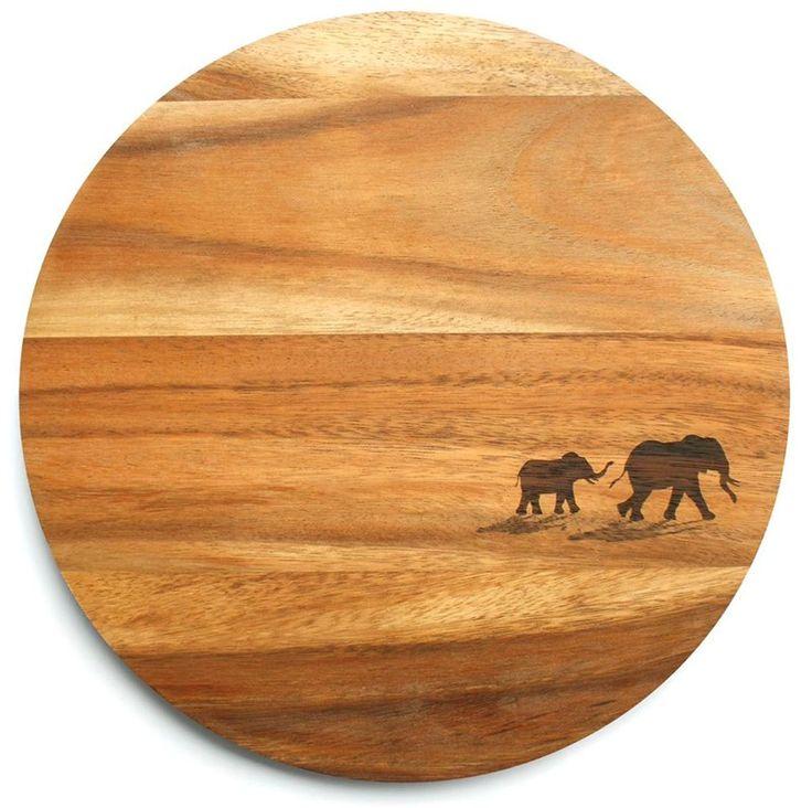 Serveringsbræt - Elefanter
