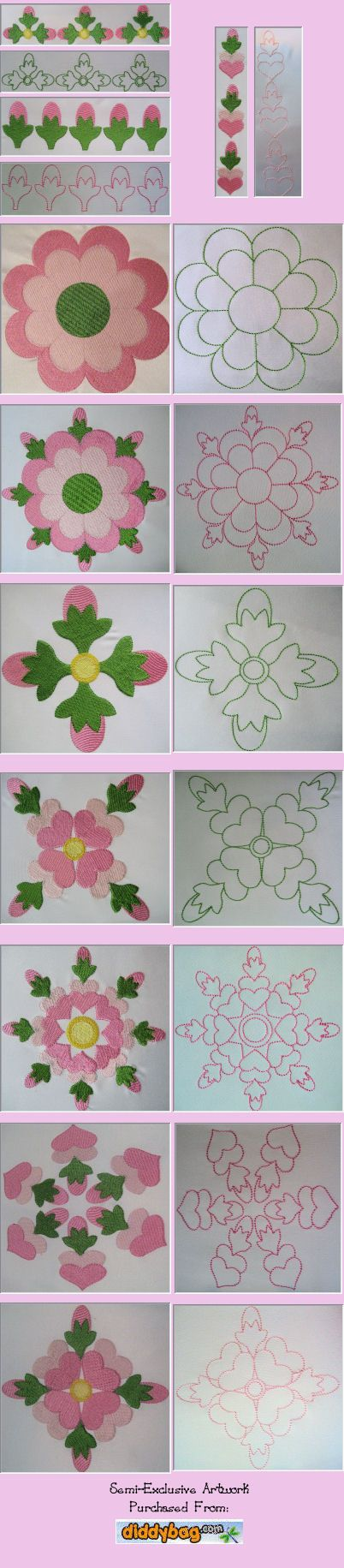 Rose of Sharon Quilt Block Set - $15.00 : The Country Needle Embroidery Designs®, Offers high quality, manually punched machine embroidery designs at affordable prices. Instant downloads available. Where quality designs and customer service are the priority! Join The Country Needle Embroidery Barn, our embroidery club for even more savings!