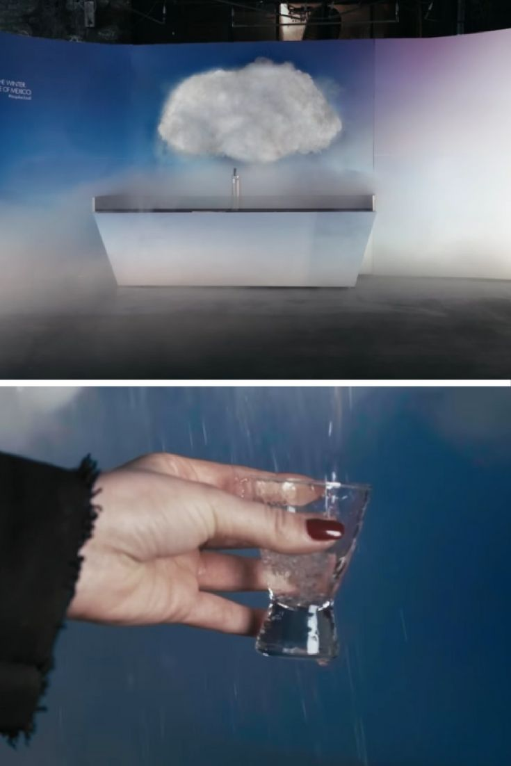 Thanks to part of an installation at the Urban Spree art gallery in Berlin, there is now a cloud than generates raindrops of tequila.