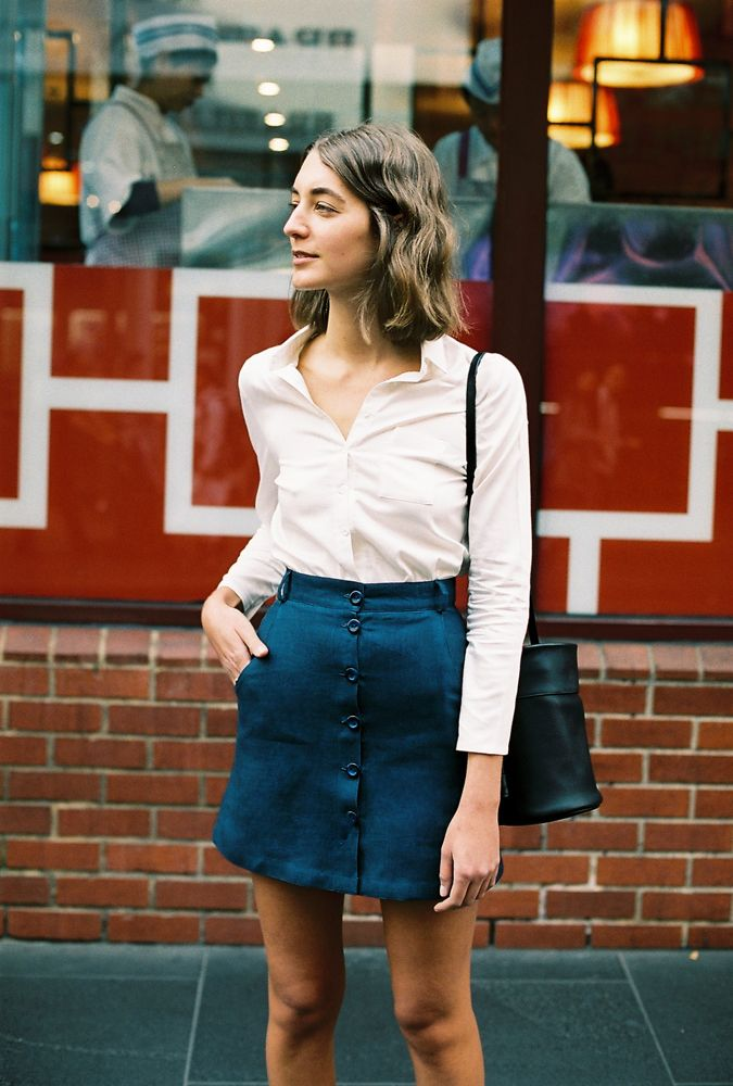Klara linen skirt by Caves Collect