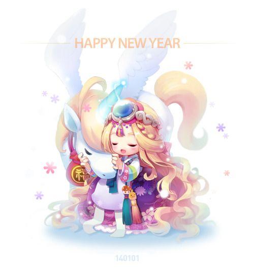 spadow:  Happy New Year everyone! #maplestory2