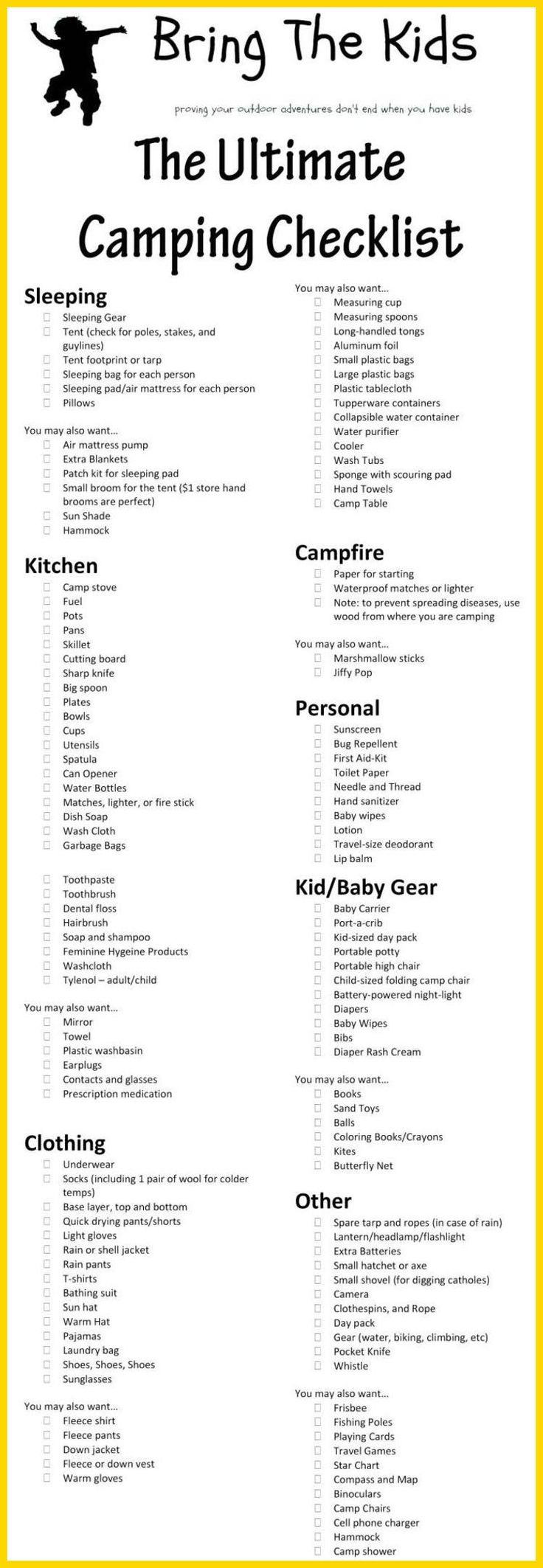 The 25 Best Tent Camping Checklist Ideas On Pinterest