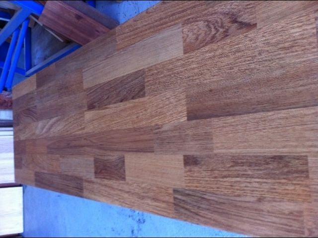 Laminated timber butchers block