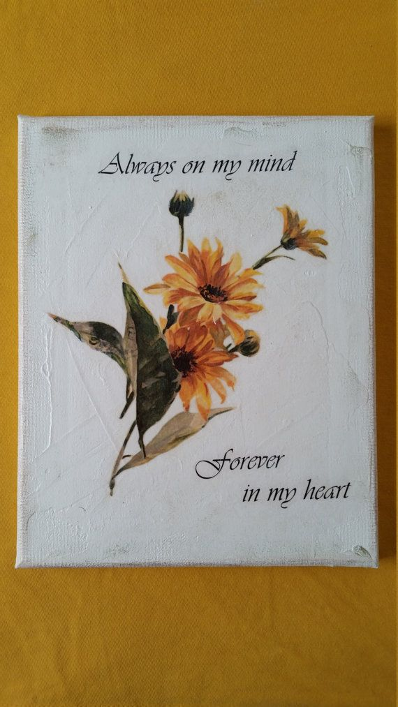 Always on my mind forever in my heart quote Wall art by MGMCraft