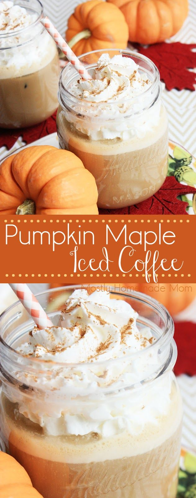 Pumpkin Maple Iced Coffee - Pumpkin spice, maple, and whipped cream with your favorite iced coffee - the perfect fall twist to the best drink ever! #FoundMyDelight #ad
