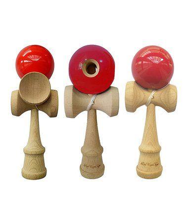 Look at this #zulilyfind! Red Kendama Toy - Set of Three #zulilyfinds