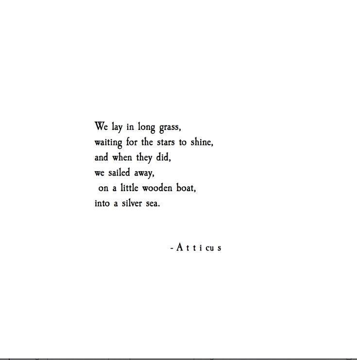 Atticus Quotes: 'Silver Sea' #atticuspoetry #atticus #poetry #stars