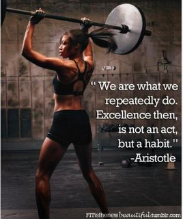 We are what we repeatedly do #Inspiration #Fitness
