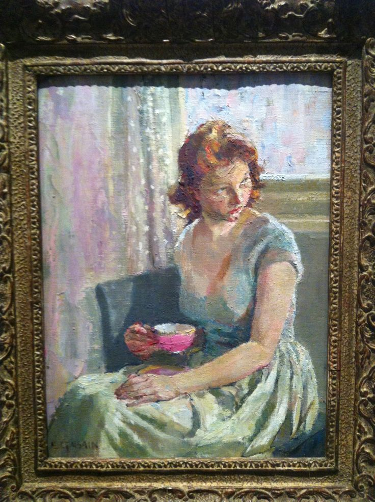 Ethel Gabain (1883-1950) 'The little red-haired Girl' (1945) in Brighton Museum's exhibition of Women Artists from the Fine Art Collection. Just a stunning painting.