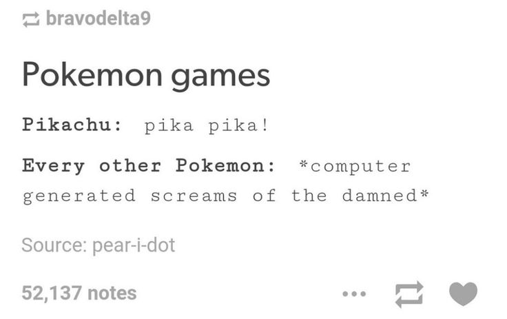 Pika! Pika! *electronic screams of the damned*