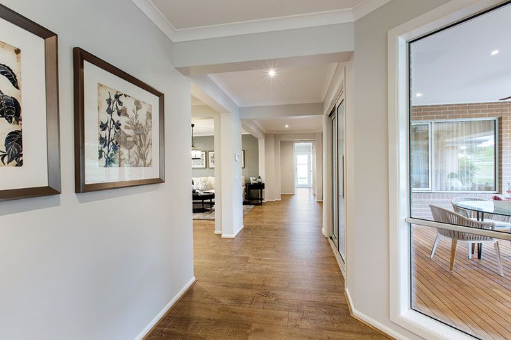 Expansive hallways leading through the Hillside with a Classic Hamptons World of Style.