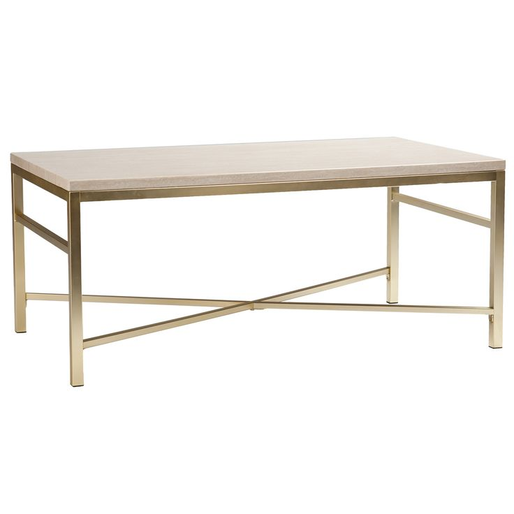 Orinda Faux Stone Cocktail Table In Travertine By Southern Enterprises