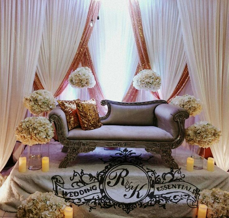 wedding reception photo booth singapore%0A Gold and white criss cross drapes accompanied by hydrangeas tall long vase  and this was created in the hdb house living room R u    K Wedding Essentials  Facebook