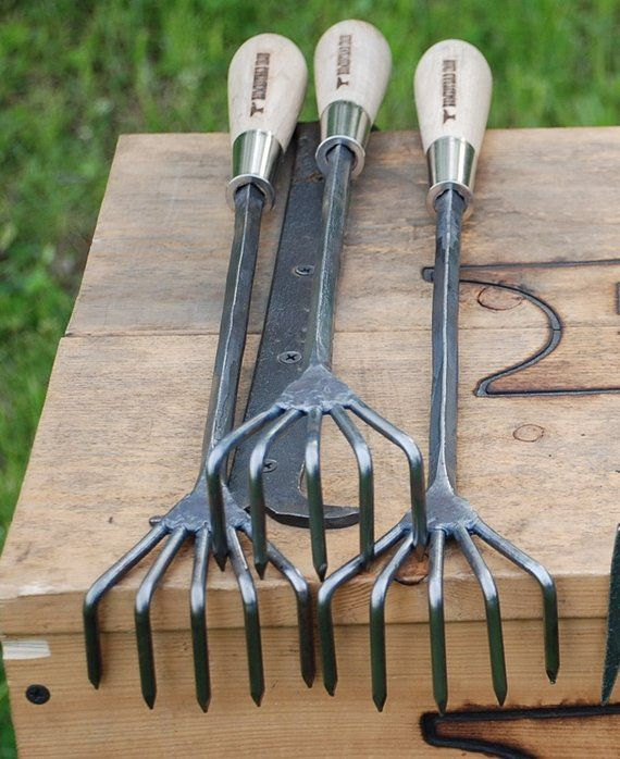 Crows Foot Cultivator Garden Hand Tools Hand Forged Blacksmith