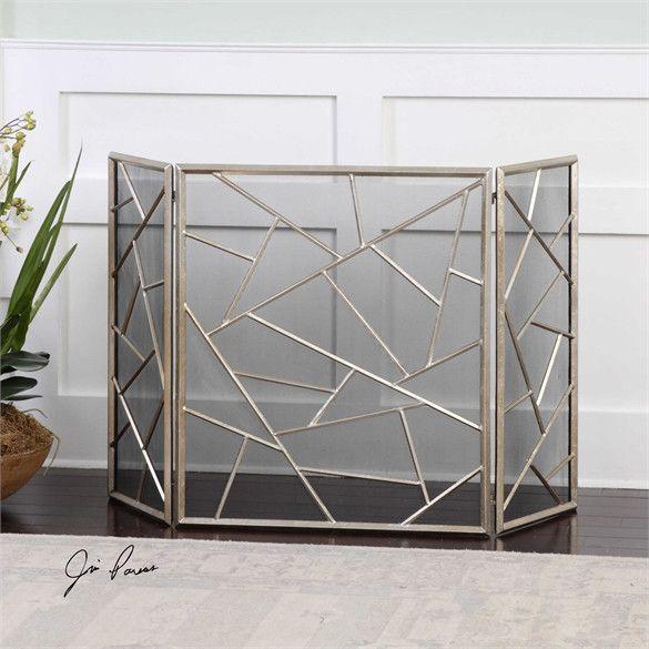 Uttermost Armino Modern Fireplace Screen