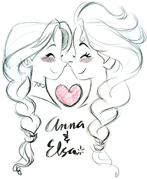 Anna and Elsa- Frozen © DISNEY Something cute for Monday. ;)
