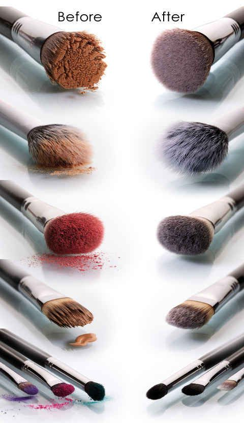 Here's How To Actually Clean And Dry Your Makeup Brushes In Seconds. And it is effective AF.