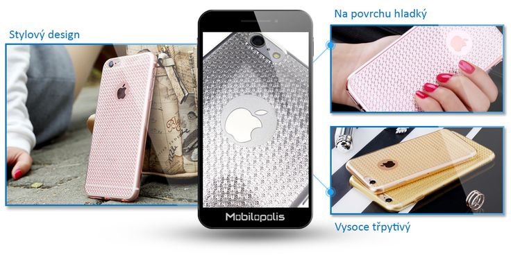 Třpytivý kryt na iPhone 6 Plus, 6s Plus - ROCK Fla series RQ001