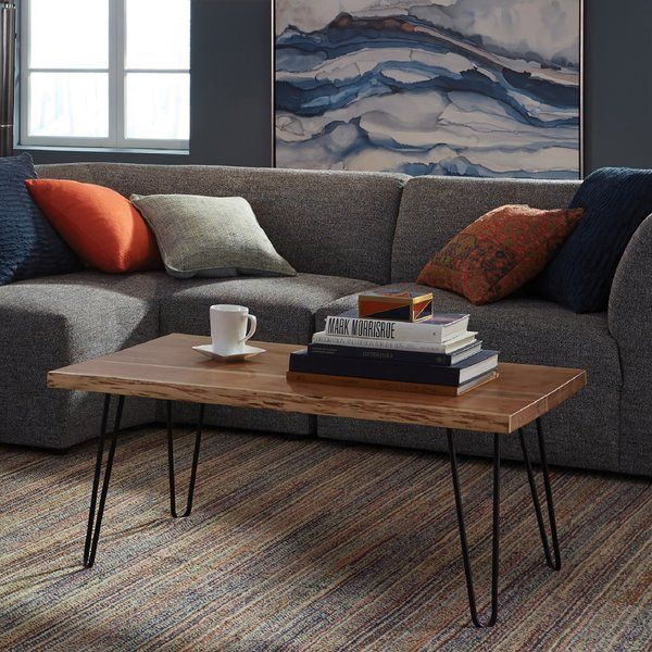 Tindle Coffee Table In 2020 Coffee Table Live Edge Coffee Table Hairpin Coffee Table