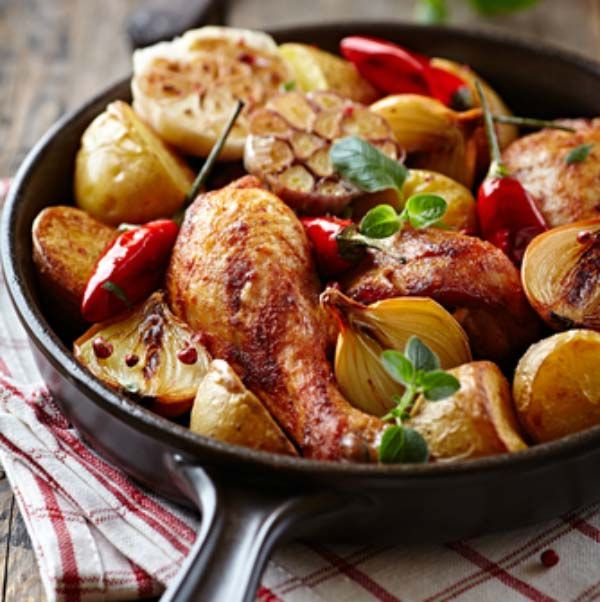 Read our delicious recipe for One Pan Lemon Chicken and Roast Vegetables, a recipe from The Healthy Mummy, which is a safe way to lose weight.