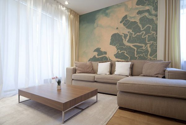 Living room wall murals ideas ideas