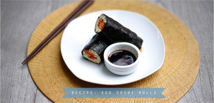 Recipe of the Week: Nori Egg Sushi Rolls Move Nourish Believe