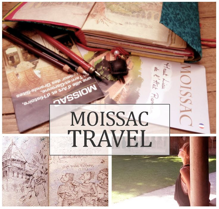 #Moissac #travel #sketchbook with #watercolor and #pencil,  #France