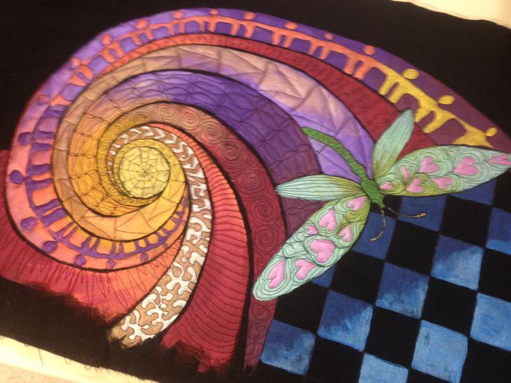 Helen Godden Art Quilt Class - learning to create an art quilt and machine quilt.