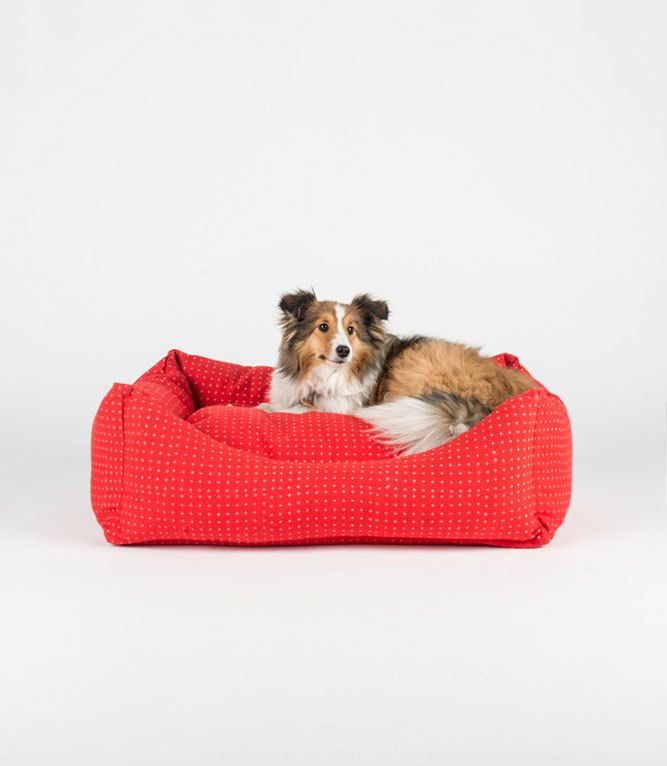 Red Star - Hand Block Bolster Dog Bed by FILLYDOG by fillydogco on Etsy https://www.etsy.com/listing/226372385/red-star-hand-block-bolster-dog-bed-by