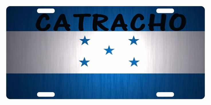 HONDURAS Flag Custom License Plate National Emblem CATRACHO Version #FASTSERVICEDESIGNS