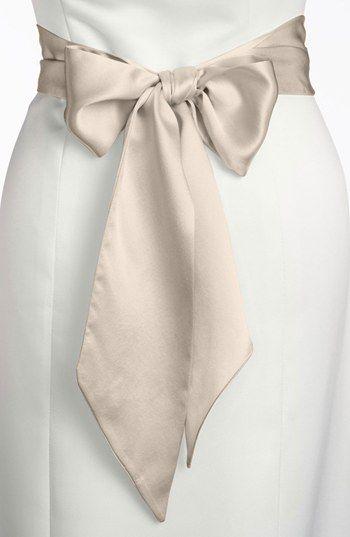L. Erickson Silk Charmeuse Sash, Wide | Nordstrom