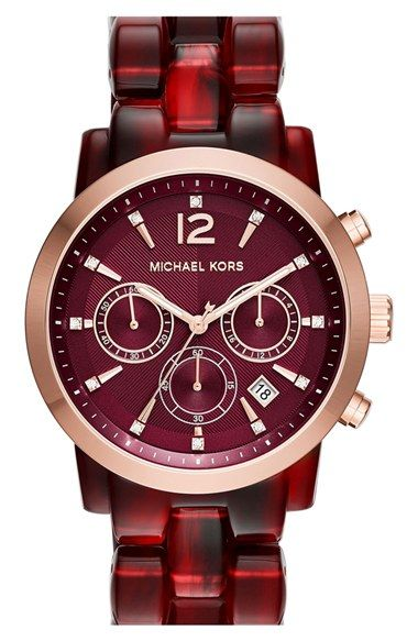 MICHAEL Michael Kors 'Audrina' Chronograph Bracelet Watch, 42mm available at #Nordstrom