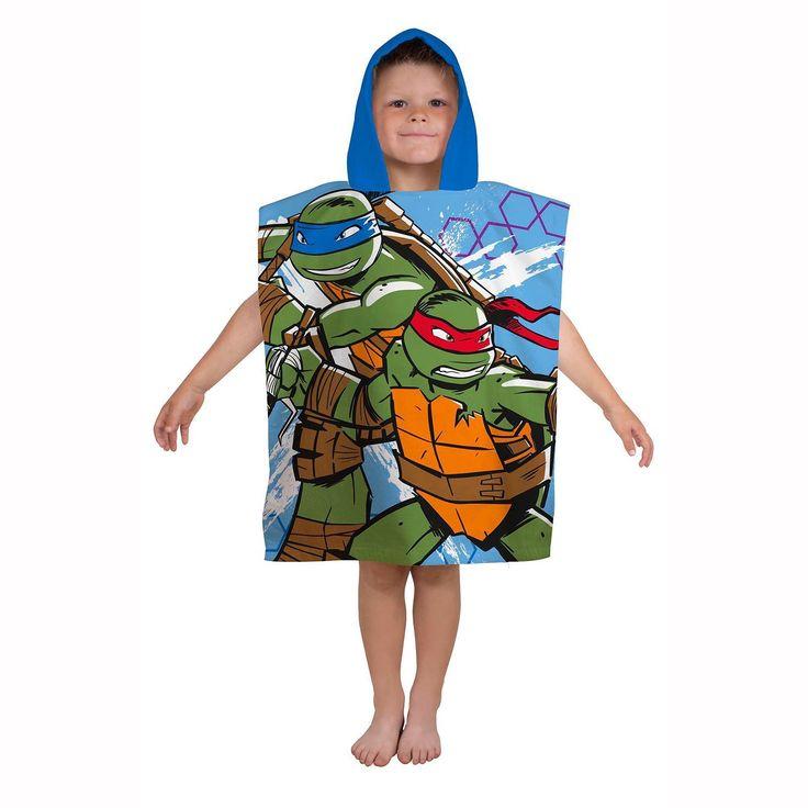 Teenage Mutant Ninja Turtles Hooded Towel. Available at Kids Mega Mart online shop Australia www.kidsmegamart.com.au