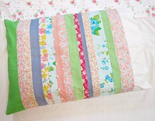 Pillowcase from fabric scraps. Sewing ArtSewing CraftsSewing ... & 225 best AMAZING GRACE PILLOWCASE INC images on Pinterest ... pillowsntoast.com