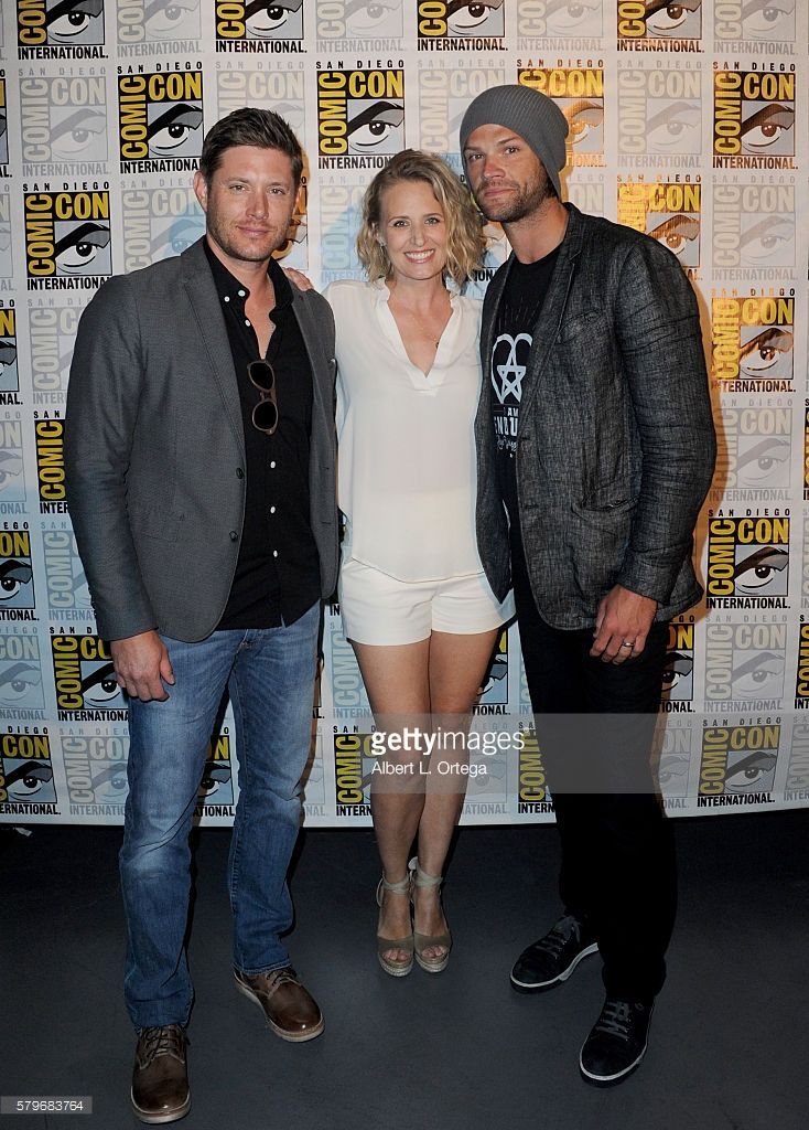 Actors Jensen Ackles, Samantha Smith and Jared Padalecki attend the 'Supernatural' Special Video Presentation And Q&A during Comic-Con International 2016 at San Diego Convention Center on July 24, 2016 in San Diego, California.
