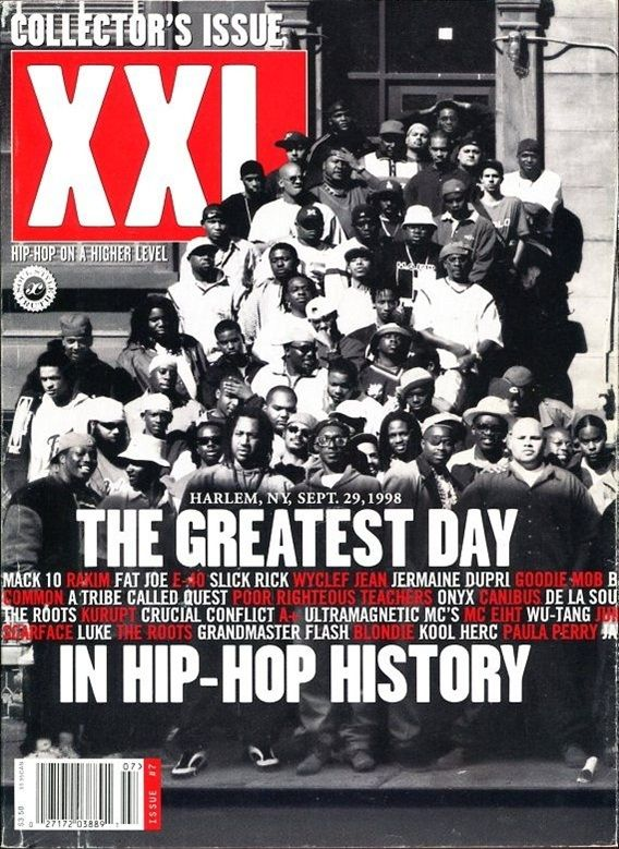 September 29, 1998: Hip-Hop's Greatest Day Two hundred old and new school rap artists assembled in Harlem. It could be said this display of unity went a long way in forever ending the proverbial East coast/West coast beef that existed for years. A sense of closure from the aforementioned deaths certainly was an underlying element here as well.