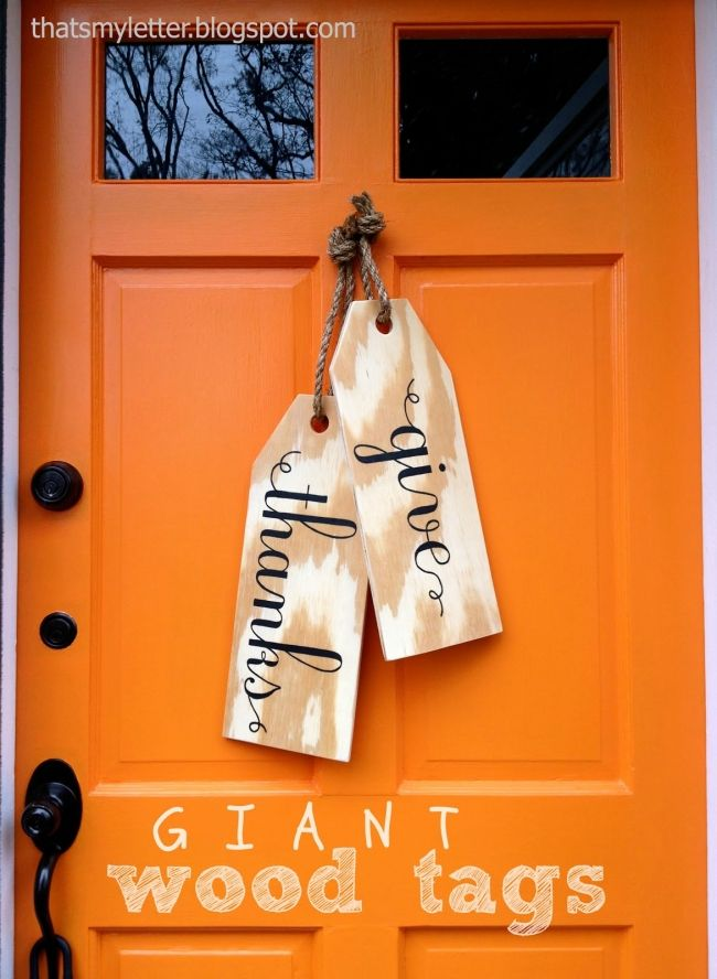 Giant Wood Tags