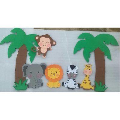 Figuras En Foami Animales De La Selva O Safari - Bs. 350,00