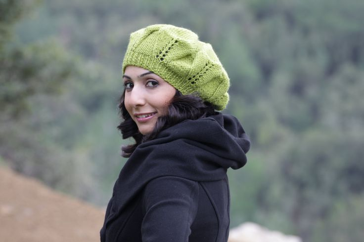 Knit Berets for Women | Knit Slouch Hat for Women, Green beret for women, Womens knit hat